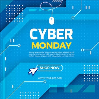 Illustration de vente plat cyber lundi