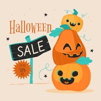 Illustration de vente plat halloween