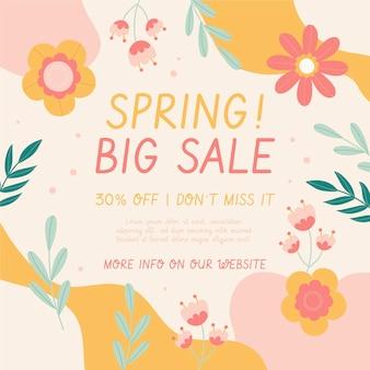 Illustration de vente de printemps dessiné à la main