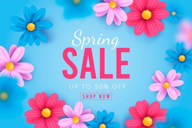 Illustration de vente de printemps réaliste
