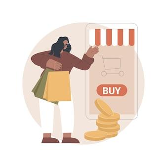 Illustration de vente virtuelle