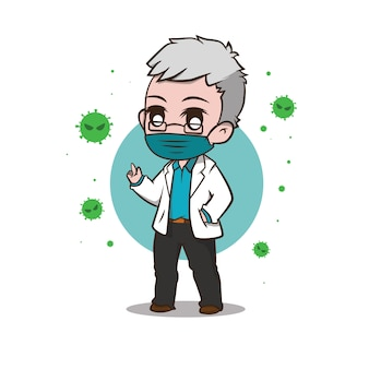 Illustration de la version du docteur chibi