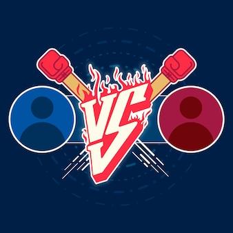 Illustration versus emblème de combat