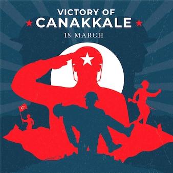 Illustration de la victoire de canakkale