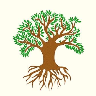 Illustration de la vie des arbres dessinés à la main