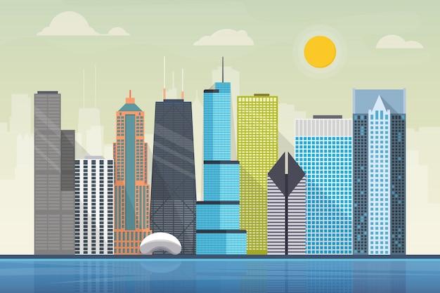 Illustration de la ville de chicago