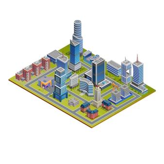 Illustration de la ville isométrique