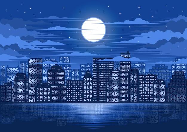 Illustration de la ville lumière