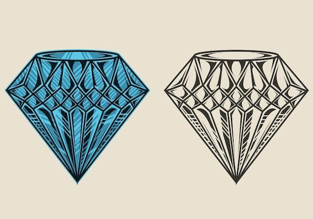 Illustration vintage élégant bijoux en diamants