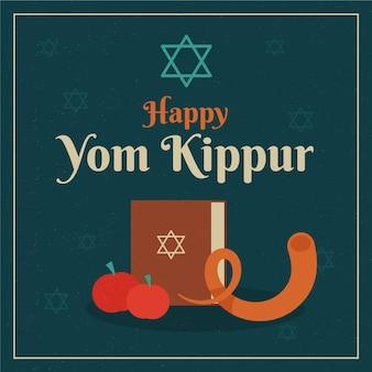 Illustration vintage de l'événement yom kippour