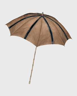 Illustration vintage de vecteur de parasol marron, remix d'œuvres d'art de melita hofmann