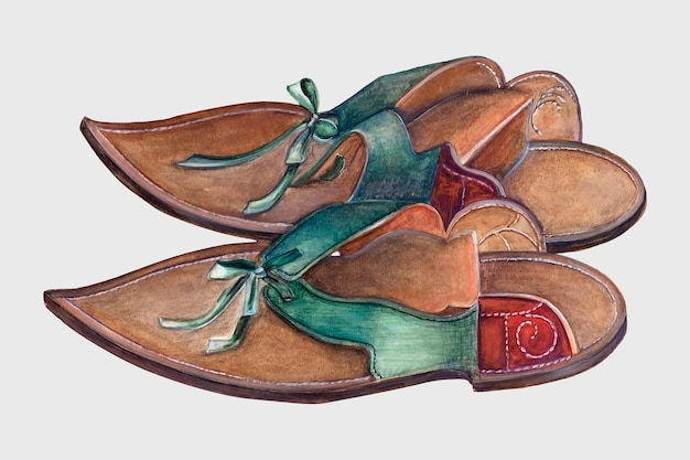 Illustration vintage vectorielle des couvre-chaussures pour dame, remixée à partir de l'œuvre d'ella josephine sterling.