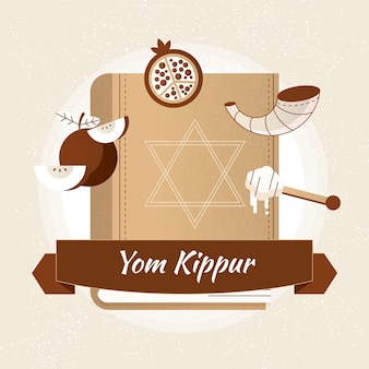 Illustration vintage de yom kippour
