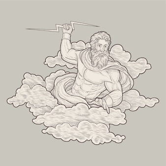 Illustration vintage zeus