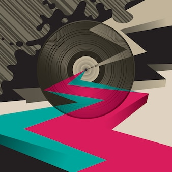 Illustration de vinyle abstraite