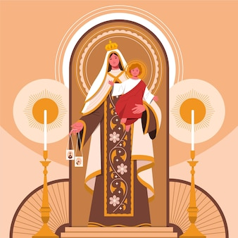 Illustration de la virgen del carmen
