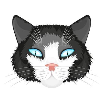 Illustration de visage de chat