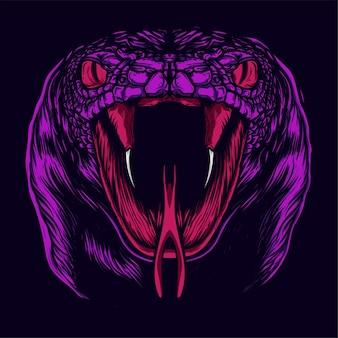 Illustration de visage de serpent