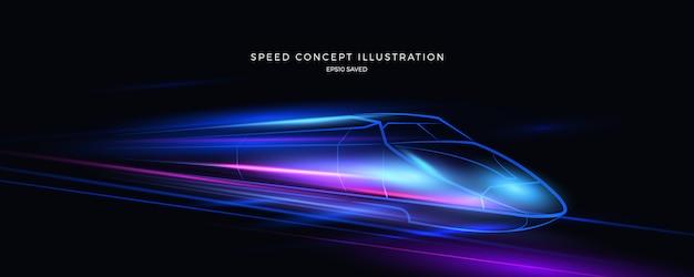 Illustration de vitesse, fond rapide