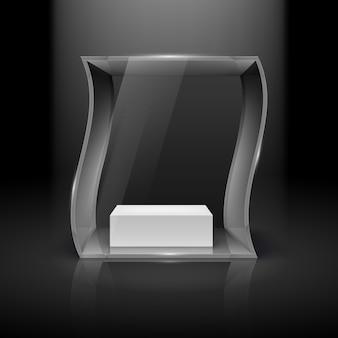 Illustration de vitrine en verre