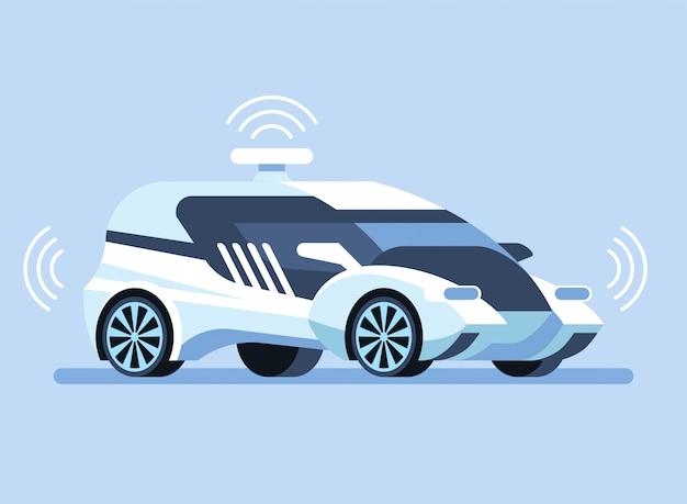 Illustration d'une voiture autonome autonome