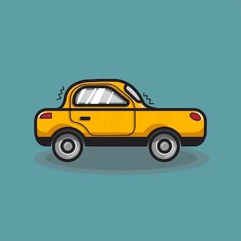 Illustration de voiture berline dessinée à la main