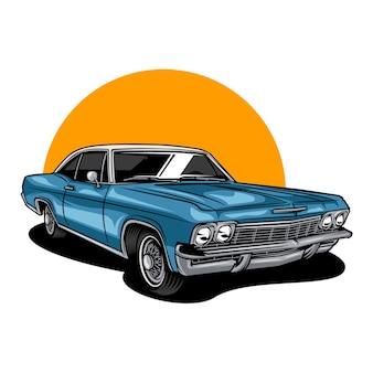 Illustration de voiture classique vintage