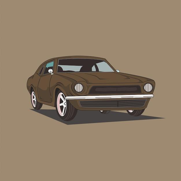 Illustration d'une voiture classique