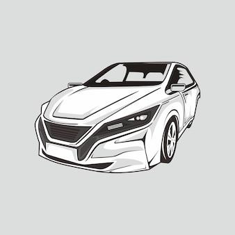 Illustration de la voiture de dérive