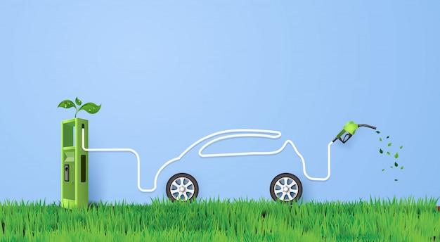 Illustration de voiture écologique
