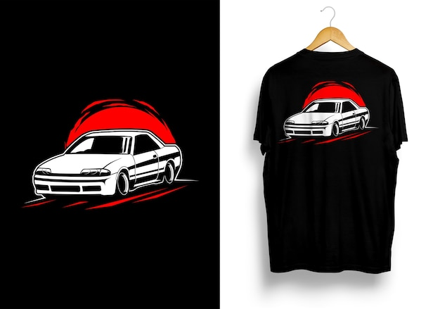 Illustration de voiture jdm tshirt