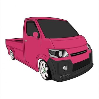 Illustration voiture ramasser