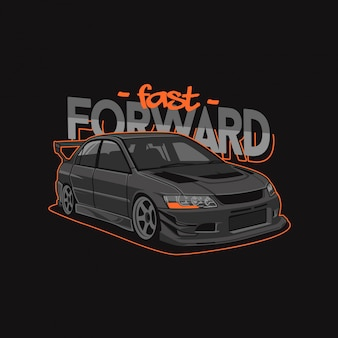 Illustration de voiture de sport