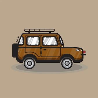 Illustration de voiture suv dessiné à la main