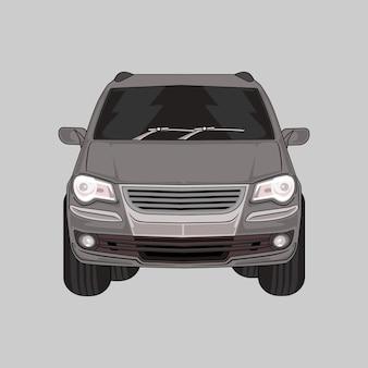 Illustration de voiture suv voiture moderne