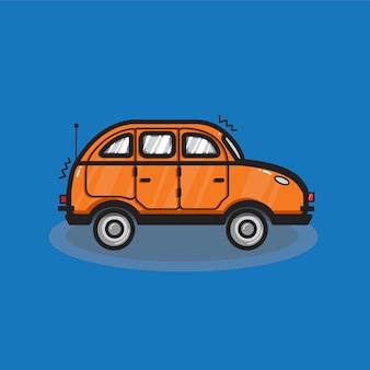 Illustration de voiture véhicule polyvalent dessiné à la main