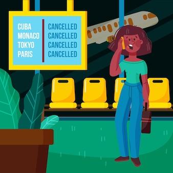 Illustration de vol annulée