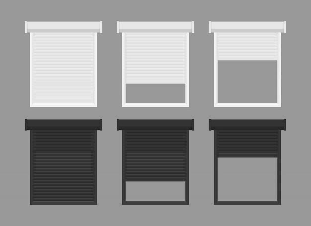 Illustration de volets roulants windows isolé
