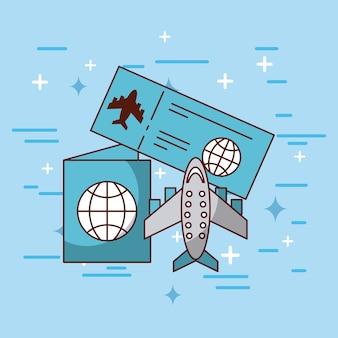Illustration de voyage de brochure