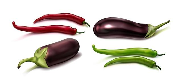 Illustration de vue de dessus de légumes réalistes