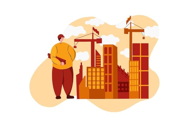 Illustration web de l'entrepreneur