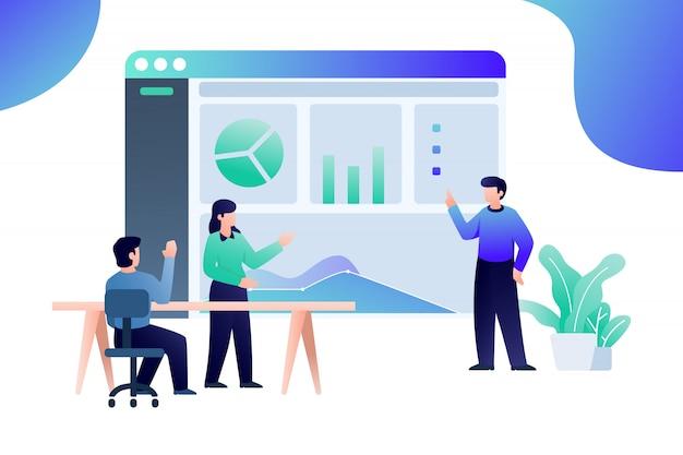 Illustration web de présentation