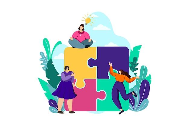 Illustration web de problème de puzzle