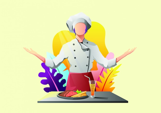 Illustration web de restaurant