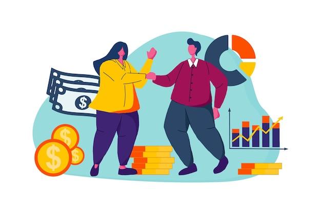 Illustration web de travailleur financier