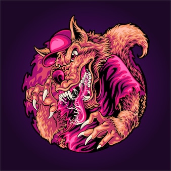 Illustration de wolferine en colère