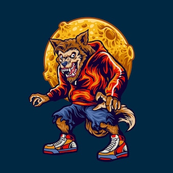 Illustration wolfman