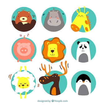 Illustrations d'animaux mignons