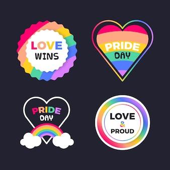 Illustrations de badges de fierté