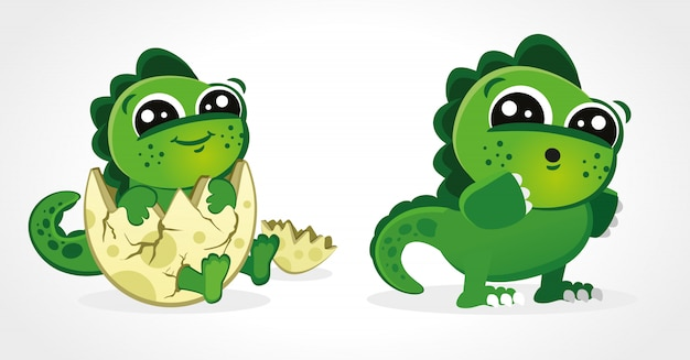 Illustrations de bébé dinosaure mignon